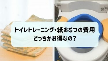 トイレトレーニング・紙おむつの費用:どっちがお得なの?