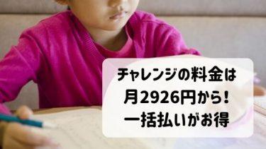 チャレンジ一年生の料金は月2,980円から!一括払いが一番お得です