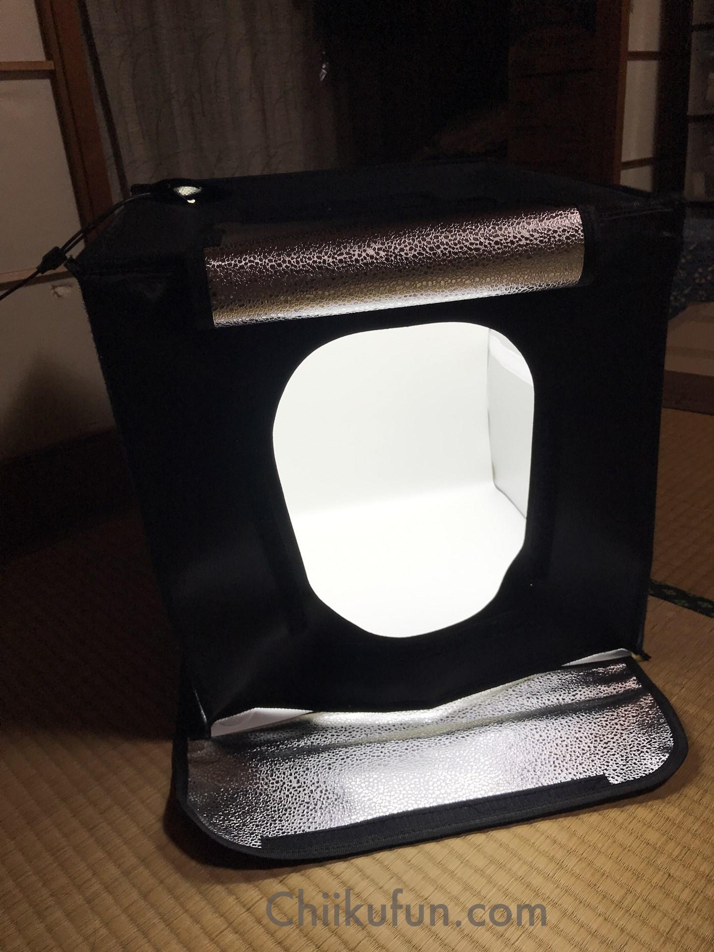 撮影ボックスの使い方『撮影ボックス40x40x40cm折り畳み組み立て』できれいに撮影