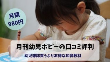月刊(幼児)ポピーの口コミ・評判を徹底比較!うちの子どもに合うの?