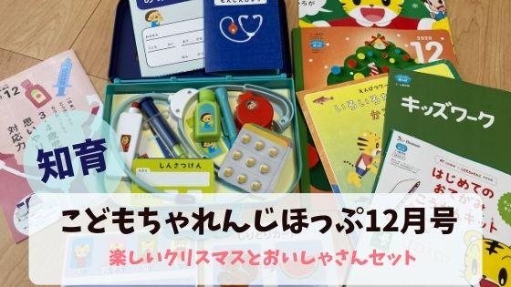 こどもちゃれんじほっぷ12月号ご紹介!おいしゃさんセットで遊べる!
